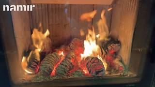 Кафельная печь камин ( Каминофен, изразцовая печь ) Hein GREMIO 2 (коричневая) від компанії House heat - відео