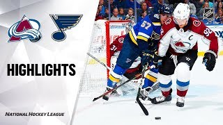 Avalanche @ Blues 10/21/19 Highlights