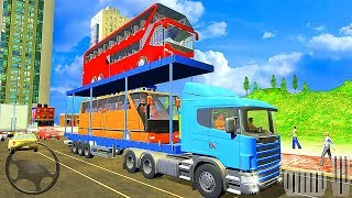 Bus Transporter Truck 2017 - City Bus Race Simulator - Best Android Gameplay