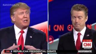 Rand Paul Destroys Donald Trump on War Crimes and the 1st Amendment |  Republican Debate