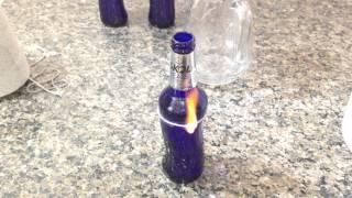 Fazendo copo com garrafa de Skol Beats