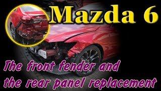 Mazda 6. Body repair. Ремонт кузова.