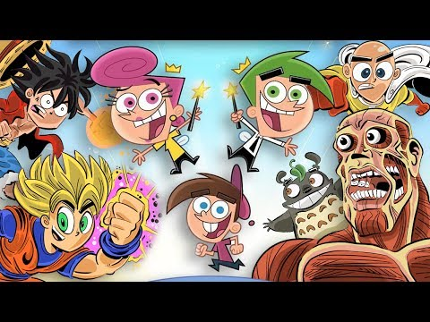Anime Characters in the Fairly OddParents Style