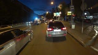Екатеринбург Типичная ночь мотоциклиста 25 07 2017 Зеркальный асфальт,тренировка,неадекватный,дтп
