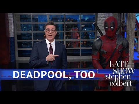 Deadpool Takes Over Stephen's Monologue (видео)