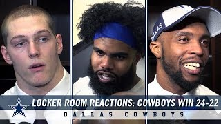 Locker Room Reactions: Cowboys Win in NFC Wild Card Round Over Settle 24-22 | Dallas Cowboys 2018