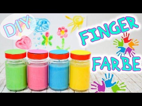 Fingerfarbe selber machen I völlig ungiftig aus nur 4 Zutaten