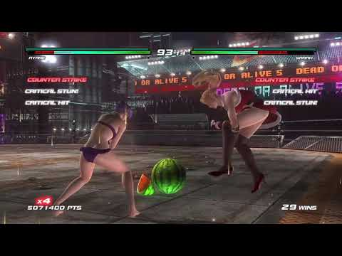 Dead Or Alive 5 Last Round: Ayane And Momiji Tag Survival Legend