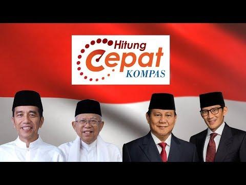 Quick Count Pilpres dan Pemilu 2019 Litbang Kompas