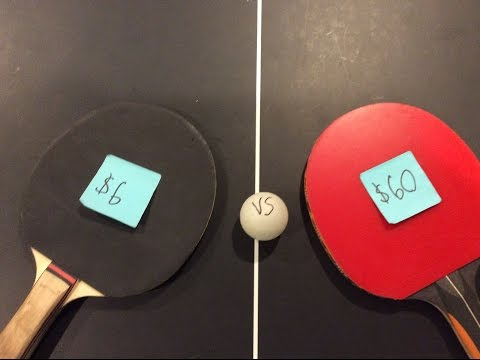 $6 VS $60 PING PONG PADDLE/UNBOXING OF STIGA CANNON