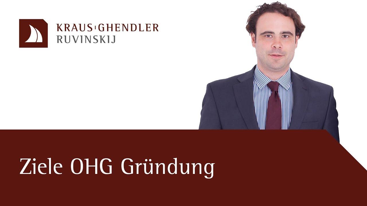 Ziele einer OHG Gründung