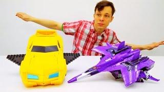 Игры #Трансформеры: Бамблби учится летать! Видео с игрушками. Папа Тайм.