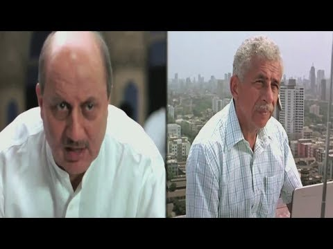 Anupam kher is tracing the call of Naseerunddin Shah