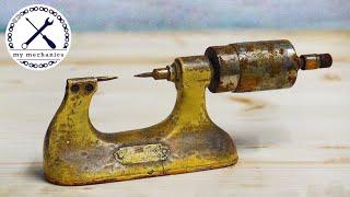 Древний ржавый микрометр – точное восстановление
