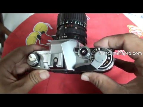 How to operate SLR Canon AT-1, a film camera