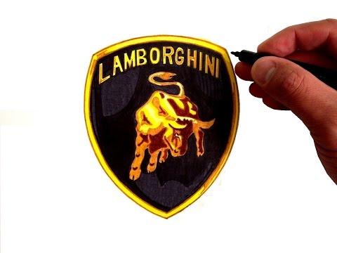 рисуем логотип lamborghini