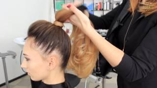 Как сделать красивый высокий хвост из волос. Быстрая легкая прическа  | YourBestBlog