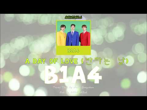 [THAISUB/KARAOKE] A DAY OF LOVE(반하는 날) - B1A4 [Color Coded Lyrics(Han/Rom/Thai)]