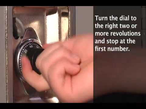1652/1654 Built-In Combo Lock: Operating Instructions