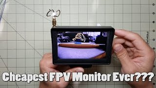 Cheapest FPV Monitor Ever???
