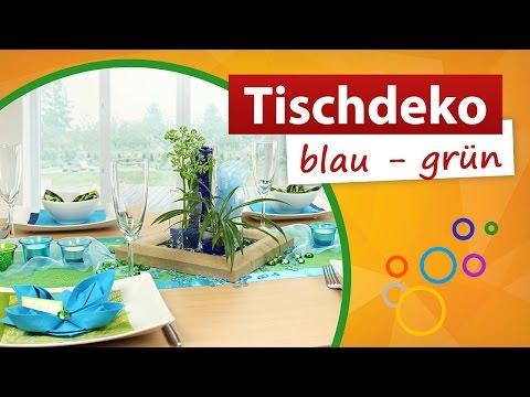★ Tischdekoration blau grün ★ ❶ Min Video - trendmarkt24 Dekoration