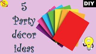 5 DIY Party Decoration Ideas | Paper Craft Ideas