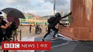 港島遊行:示威者60秒「快閃」金紫荊後 大陸遊客愉快進場- BBC News 中文