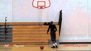 Dre Baldwin: Vertical Jump Single Leg Rim Touch Drill | Blake Griffin Air Alert Jump Manual Workout
