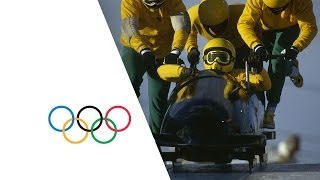 Jamaican Bobsleigh Team Debut At Calgary 1988 Winter Olympics