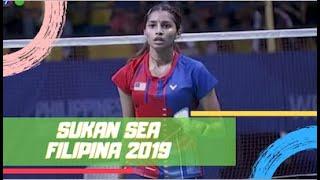 EMAS Badminton Perseorangan (W) | Kisona Selvaduray | Sukan SEA 2019 | Astro Arena