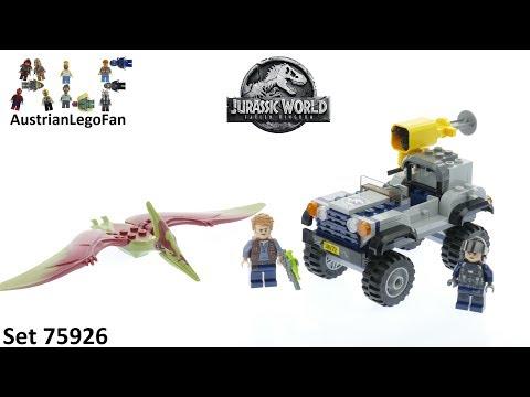 Vidéo LEGO Jurassic World 75926 : La course-poursuite du Ptéranodon