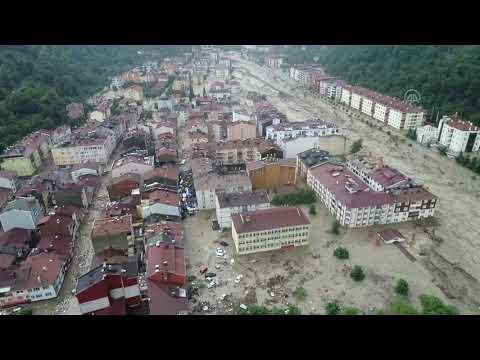 Bozkurt ilçesinde 11 Ağustos'ta yaşanan sel felaketi anı