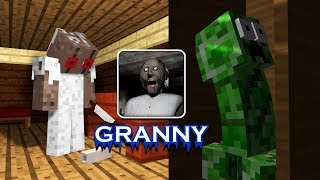 ✅ Monster School : GRANNY HORROR GAME CHALLENGE - Minecraft Animation