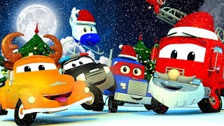Christmas with Car City! Carl Super Truck, Car Patrol Police Car & Fire Truck and Tom the Tow Truck