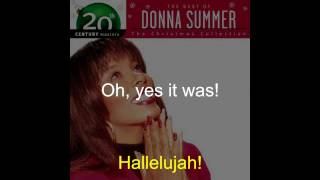 "Donna Summer - O Holy Night LYRICS - Remastered ""Christmas Spirit"" 1994/2005"