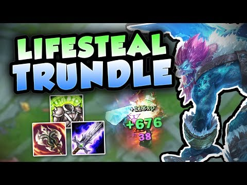CAN ANYONE HOLD BACK THIS FULL LIFESTEAL TRUNDLE? NEW OP TRUNDLE TOP BUILD! League of Legends