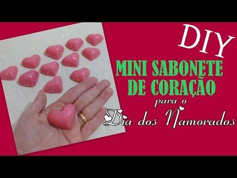 Mini sabonete de coração