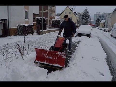 Einachser im Winterdienst, snow plowing with the 2-wheel tractor