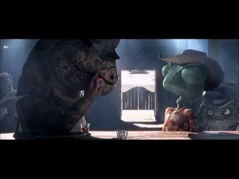 RANGO [2011] Scene: Saloon Confrontation.