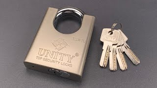 """[1015] A Lock With """"Good Character"""" — Unity Model TSJF70 Picked"""