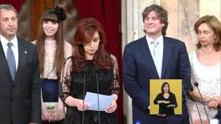 Asunción Y Jura De Cristina Kirchner Se Pone La Banda Presidencial FULL HD