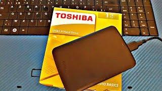 Toshiba Canvio Basics USB 3.0 1TB External Hard Drive Unboxing and Testing