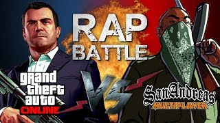 Рэп Баттл - Grand Theft Auto Online vs. San Andreas Multiplayer (GTA Online vs. SA-MP)