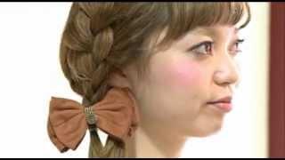 《モテ髪アレンジ》ガーリーな編みこみヘア - YouTube