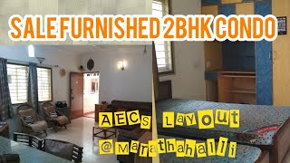 Furnished 2BHK Flat Resale with BBMP 'A' Khata in AECS Layout Marathahalli