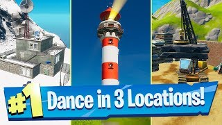 Dance at Compact Cars, Lockie's Lighthouse and a Weather Station Locations - Fortnite Battle Royale