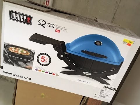 Weber Q 1200 $99.00 Gas Grill Review And Assembly, Awesome!