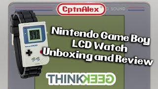 Nintendo GameBoy LCD Watch Unboxing and Review
