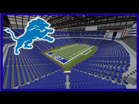 Minecraft MEGABUILD Ford Field (Detroit Lions) Construction Timelapse +DOWNLOAD | TheCraftCrusader