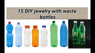 15 DIY Jewelry Making With Waste Bottles